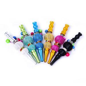 Oro Consigli Pipe ad acqua con trapano Hookah Shisha filtro di sigaretta Pipe Holder fumatori accessori colorati Ciondolo scavato Out Lanterna 14dd D2