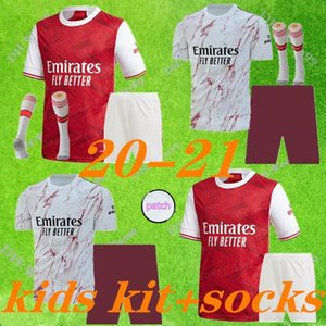 kids kit +socks Arsen soccer jersey 20 21 PEPE NICOLAS CEBALLOS HENRY GUENDOUZI SOKRATIS MAITLAND-NILES TIERNEY 2020 2021 football shirt