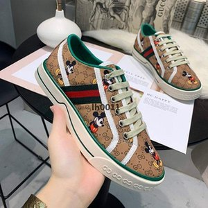 Top quality Women training shoes platform Luxury classic Shoes Canvas Leather Lace up Fashion Leisure Business vacation Shoes With box