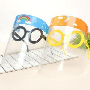 Designer Masks Shield LX2408 Face With Cartoon Protective Anti-fog Glasses Prevent Children Party Mask Mask Mask Full Npeok