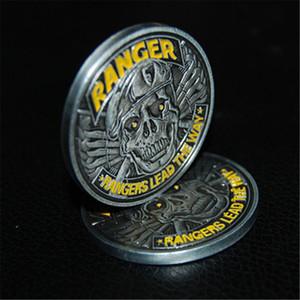 "ARMY RANGER جمجمة بيريه 1.75 ""رينجرز CHALLENGE عملة تقود الطريق"