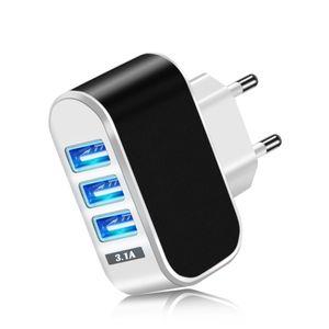 Acgicea 3 puertos USB cargador USB 5V 2A pared de la energía del cargador del adaptador de la UE que carga para el iPhone XS X Xiaomi Samsung Huawei cargador de teléfono
