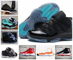 2020 air injordan11 Bred 11s Men high Jumpman Basketball Shoes Concord 45 Metallic Silver Platinum Tint space