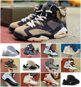 2020 Yeni Travis Scotts 1s 4S 5s Jumpman Basketbol Ayakkabı Erkek UNC Beyaz Presto Siyah Ateş Kırmızı Üniversitesi Mavi Ovo 13 Ada Yeşil Sneakers