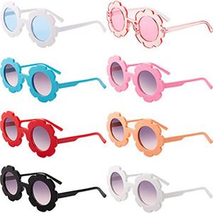 2020 NEW 썬 꽃 라운드 귀여운 아이 선글라스 UV400 소년 소녀 사랑스러운 아기 태양 안경 도착