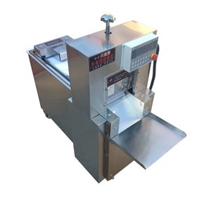 Vender CNC Máquina eléctrica solo rollo de corte de cordero Carne de congelación de la carne de corte máquina de corte de rollo de cordero olla caliente Máquina multifuncional