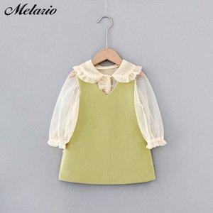 Melario Mädchen 2020 Herbst-Kind-Kleidung Outfits Baby Shirts Kleid Kinder Langarm Prinzessin Vestidos 1Xpc #