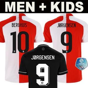 20 21 Таиланд Качество Фейеноорд прочь футбол Джерси 2020 2021 Berghuis Главного джерси Away черный Мужчины + дети Kit Футбол Рубашка Uniform
