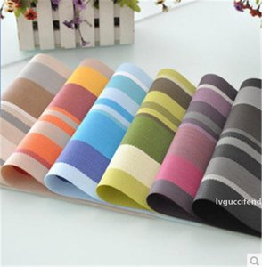 Striped Placemat European Style PVC Table Mat Heat Insulating Pad Eco-friendly Waterproof Anti-fouling Table Place Mat