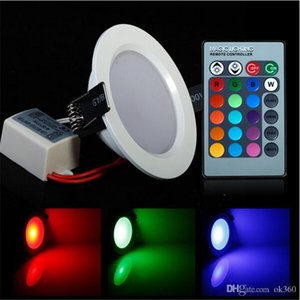 Energy Saving 5W 10W LED Ceiling Light High Brightness RGB Down Light 24 Colors With Remote Control LED Light Lamps