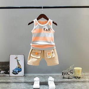 aMTpl 2020 iki parçalı şık Çocuk Yelek çocuk giyim takım elbise yelek yeni erkek yaz elbise giyim yazlık giysiler bebeğin Batı tarzı