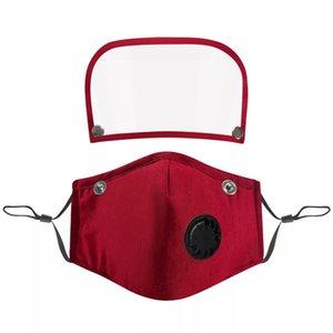 6style 2 1 Yüz Shield PET Ekran Tam Yüz İzolasyon Maskeleri Anti-sis Yağ Koruyucu Kapak Vana Filtre GGA3583-6 Maske Maske