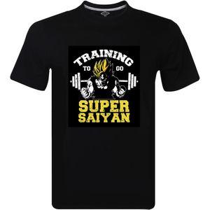 Training To Go Super Saiyan Men's T-Shirt - Dragon Ball Z Gym Bodybuilding Goku Cartoon t shirt men Unisex New Fashion