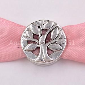 Autentico 925 Argento Perle Family Tree clip fascino clip si monili europei di stile Pandora collana dei braccialetti 797.779