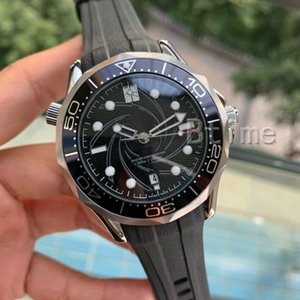 Rubber strap Mens Mechanical 2813 Automatic Movement Stainless Steel Watch James Bond 007 Men's Men Watches Fashion Wristwatches