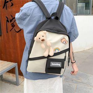 Barra de moda Bear08 MS Chicas Schoolbag Capacidad Capacidad Schoolbag Trendy Large gran capacidad MS New Bear Backpack Girls 'New JDMXA