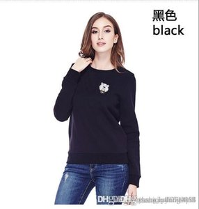 Women spring and autumn long sleeve sports jacket loose casual round collar head long sleeve T-shirt jacket