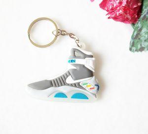 Mini Silicone Volta Para o Futuro II brilham no escuro Air Mag Keychain Chaveiro Shoes Titular da sapatilha Car Key encanto do saco keychain bonito