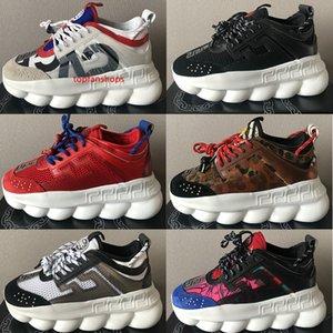 Top quality Chain reaction 2.0 Chainz men women casual shoes 2020 new Triple black Ace Multi-Color Rubber Suede MEDUSA designer sneakers