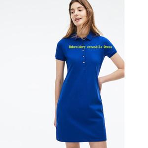 Frauen Designerkleidung für Frauen Mode-Sommer-Kleider Designer-Kleider mit Krokodil-Stickerei Frankreich-Art-Arbeit Kleid-Größe S-XL