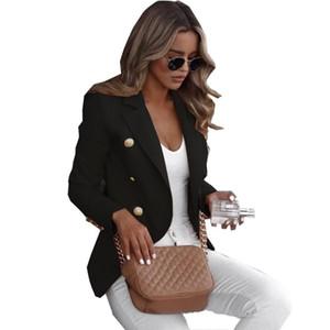 2020 Sonbahar ve Kış Popüler İnce Katı Renk Küçük Suit Kadın Mizaç Kısa Ceket
