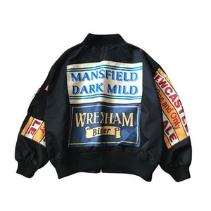 Spring Jacket Women Windbreaker Coat Patch Designs Harajuku Loose Bomber Streetwear Casual Basic Coat Oversize Short Jacket Size S-XL