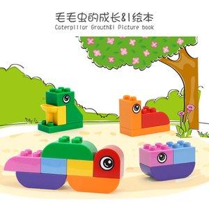 Hayali oyunun unisex Lepin çocuk anaokulu akıllı bloklar ekran öğesi için büyük hayvan