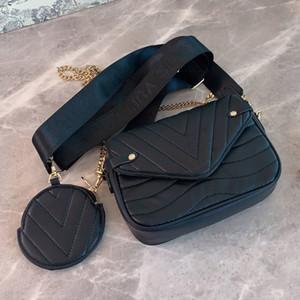 New Female Crossbody-Tasche Kleine Kapazität Frauen Geldbörse Geldbeutel Art und Weise stickte Schultergurt echtes Leder Thema Plain 6 Farbe