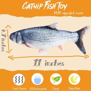 giocattoli per bambini giocattolo agitarsi realistica Flopping Pesce Pazzo di simulazione USB elettronico divertente Danza Moving Catnip 3D di pesce per gatti