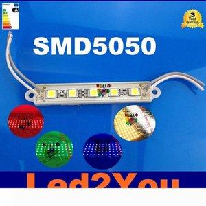 5050 SMD 5LEDs LED Modül Beyaz Sıcak Beyaz Kırmızı Yeşil Mavi Su geçirmez Işık Reklam lamba DC 12V Toptan