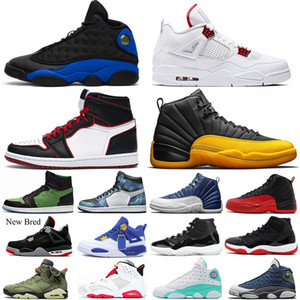 retro 4 11s 13s Hommes 12 12s Chaussures de Basketball University-Gold 13s Hyper Royal Aurora 4s Rouge Métallique 6s Hare Bred Baskets Hommes Baskets 5.5-13