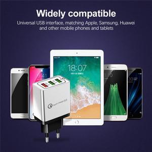 Cell Phone vendita caricabatterie calda US Port 3 EU veloce adattatore di carico del caricatore della spina parete QC3.0 USB
