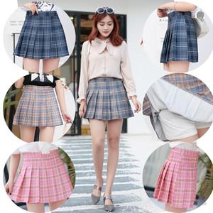 Short pleated autumn high waist 2020 women's large size a-line student new A- line dress new skirt skirt children