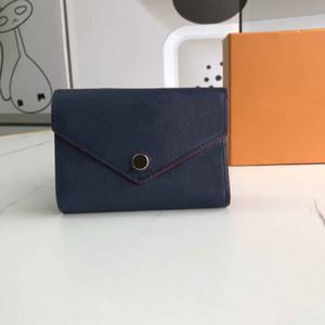 Le nuove donne del tasto del progettista modello in pelle di Lychee portafogli breve clutchs casuali femminili di moda borsa zero stile europeo signora con box 41938