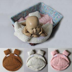 New children's photography auxiliary props Prop blanket blanket lying bucket basket mat basin mat multicolor