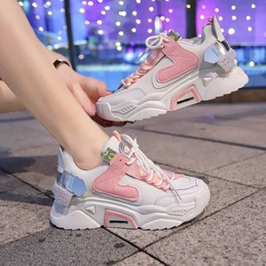 Breathable Shoes Casual Female Sneakers Wedge Basket 2020 Shose Women Round Toe Autumn Tennis Sports Dress Fall New Rubber Rome