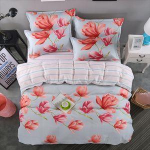 Flower Tropical Plant 4pcs Girl Boy Kid Bed Cover Set Duvet Cover Adult Child Bed Sheets Pillowcases Comforter Bedding Set 61028
