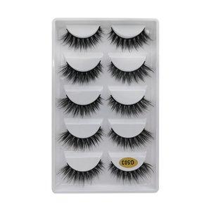 SHIDISHANGPIN 5 7 10 Pairs 3D Eyelashes Hand Made Natural Long Faux Mink Lashes messy False Lashes Extensions Maquiagem Make ups