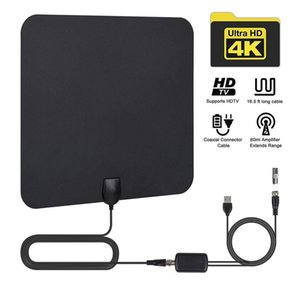 50 Miles Indoor Digital HDTV Antenna with ATSC DVB T2 Antenna for TV 1080P Easy Installation High Reception Amplified Antenna