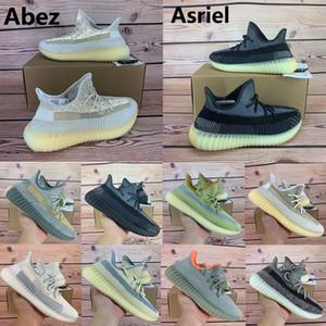 Nouveau chaussures de course kanye west v2 Abez Asriel Éliada soufre Oreo mâchefer linge sauge du désert Marsh hommes réfléchissants femmes baskets avec boîte