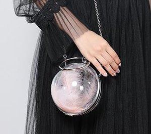 2020 Designer Bag Transparent Round Ball Dinner Bags Single Shoulder Messenger Small Round Acrylic Mini Chain Female Bag