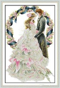 peinture décoration de la chambre royale amateurs de mariage, croix à la main point de broderie Needlework ensembles compté impression sur toile DMC 14CT / 11CT