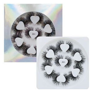 7 Pairs Faux Mink Lashes 3D Eyelashes Hand Made Natural Long High Quality False Lash Love Extensions Maquiagem Makeup cilios