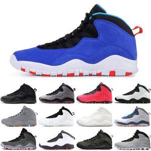 Moda Steel Grey 10 10s scarpe da basket per Mens Cemento Seattle Westbrook Classe del 2006 Chicago mens scarpe sportive della scarpa da tennis 7-13