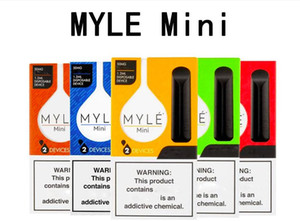 Newest Myle Mini Disposable Pod Device Starter Kits 320puffs 1.2ml Carts Empty Disposable Stick eCig Portable Vaporize in stock