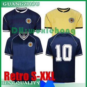 1982 1986 Scotland retro soccer jerseys world cup 82 86 Dalglish Strachan Miller Souness Hansen George Wood star football shirt size S-XXL