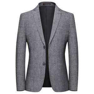 wsryxxsc Mode Marque Hommes Blazers Printemps Automne Costume couleur Solid Slim Angleterre hommes style décontracté Blazer Homme