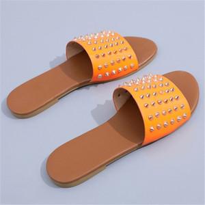 2020 Ig-Kalite Dener Ayaklı Kadınlar Kauçuk Terlik Sandalet 4 Renkler Boyutu için Floplar 36-41 CO02 # 825