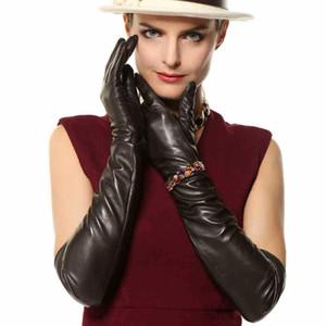 Vendita diretta delle donne Guanti Super Long 22 '' Nappa Genuine Leather Opera Dressing 100% Agnello Guanto Limitata nel tempo L109NN