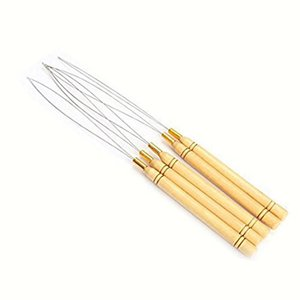 3 pcs micro rings loop tool loop threader pulling needle used with hair plier and beads for human hair feather extension tools